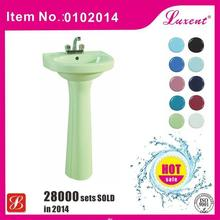 Design best selling table pedestal ceramic basin