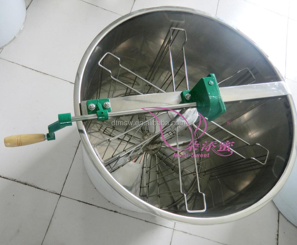 Apicultura extractor 6 marcos de acero inoxidable manual centrífuga ...