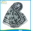 Individuality women summer skull chiffon scarf