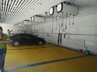 Machines in car workshop