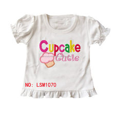 China supplier manufacture first Choice printed kids girl top
