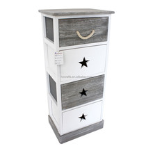 Grey white wooden storage unit nautical style living room furniture