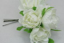 Energy saving artificial handmade gardenia flower head with leaf - Factory directly