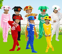 Children's cartoon pig costumes modelling conjoined suits