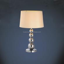 European style fabric shade steel ball table lamp,livingroom side light lamp