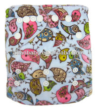 2012 New Arrive Reusable Double Hip Snaps Minky Nappies Baby Cloth Diapers