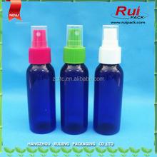 Spray Bottle PET , 60ml bottle with plastic sprayer , Plastic PET bottle
