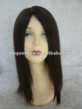 Elegant european virgin hair jewish kosher wig