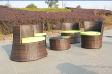 classic outdoor rattan coffee table and chairs vase shape