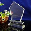 double base glass crystal trophy&award blank crystal trophy custom made