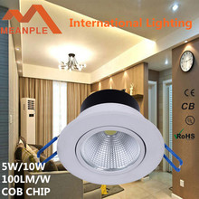 best selling 5W cob led downlight 500lm, RA>80, led downlight ce rohs, led light for home