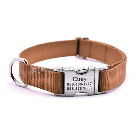 HEAVY DUTY Webbing Dog Collar with Laser Engraved Personalized Buckle (6).jpg