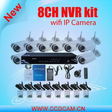 New products 8ch wifi nvr kit with security camera set