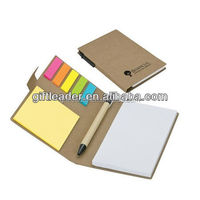Eco Friendly Recycled Pen, Note & Flag Set