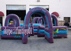 inflatable water tag / inflatable water gun maze / portable water tag gun inflatables