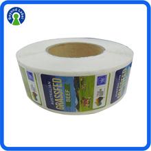Custom Food Sticker Label, Waterproof Eco-friendly Beef Pack Sticker, Plastic Bag Sticker