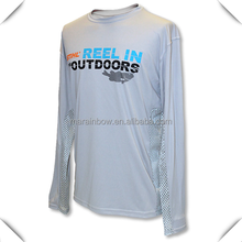 Custom Dry fit polyester spandex performance long sleeve outdoor sports Fishing t shirt wholesale