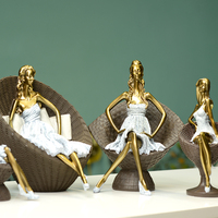 wholesale decorative modern home decor lady resin figurine