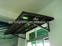 aluminum and polycarbonate window cover