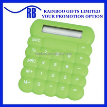 Supply plastic colorful cheap promotional logo printed Silicone bubble calculator