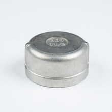 stainless steel pipe screwed end cap with high quality