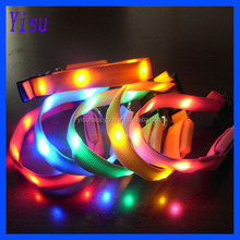 multicolor different sizes 15mm width led pet collar