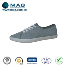 Fashion new style comfortable prong last rubber sole custom made canvas shoes for ladies casual shoes