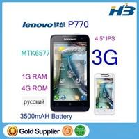 In stock original Lenovo P770 cell phone 4.5 inch IPS MTK6577 android 4.1 4GB ROM 1GB RAM 3500mAH Russia P780 S939 S960