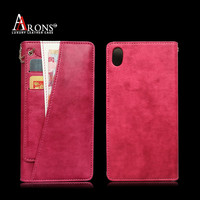 Leather universal phone case for sony xperia z2 case