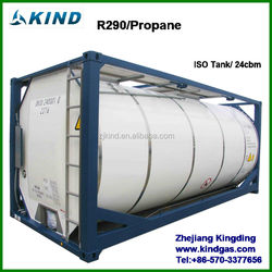 Industrial grade ISO TANK 20MT/24MT packing R290 refrigerant gas for sale