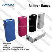 innovation design e cigarette 2600 mah portable charger Itsuwa 50w mod Ifancy