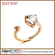 Joyas Alibaba al por mayor anillo de pe piedras semipreciosas de alta calidad, anillo de apertura pe circón calidad AAA R97400