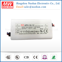 Meanwell 16W 12v led driver transformer/led driver 16w/power led drivers