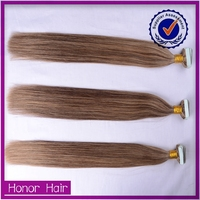 HOT! Whoelsale black hair products halo tape natural real raw indian hair for sale
