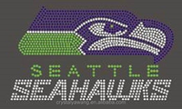 seahawks rhinestone iron on patch factory wholesalers