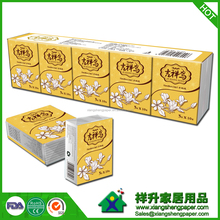handkerchief paper soft pack facial tissue with favorable price and fashion style