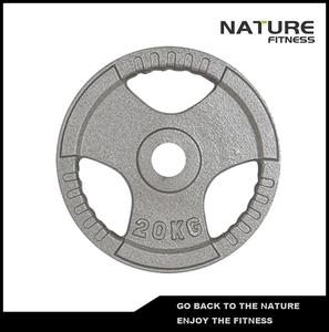 20キログラム商用グレードtri-グリップハンドルポータブルダンベルhammertone鋳鉄重量昇降板