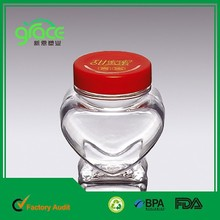 Heart Shape small plastic bottle factory for Wedding Gift Packingheart shape plastic container
