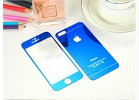 Tempered glass screen guard Color tempered glass screen protector for iphone 5 5s