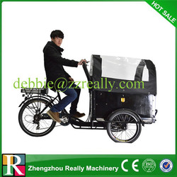 Pedal Cargo Tricycle with back seat for sale
