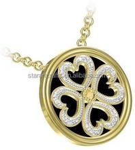 Wholesale heart crystal party 925 sterling silver gold plated fashion jewelry set silver crystal jewelry