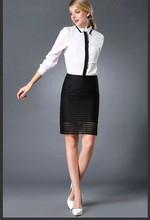 Nuevo diseño moda mujeres gasa modelos de manga corta blusas