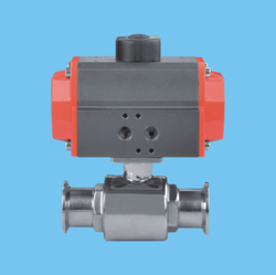 pneumatic clamp type ball valve (KDY-16-01)