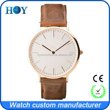 ultrathin 5ATM water ultrathin resistant stainless steel watch case for man and lady style with miyota OR21 movement