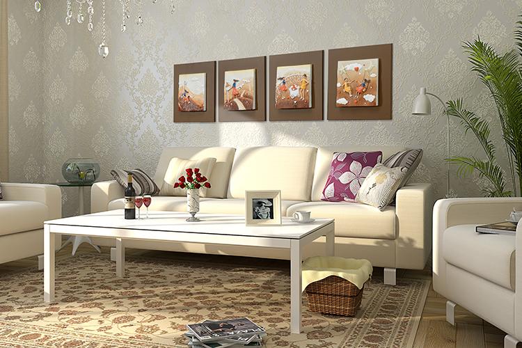 Moderne minimaliste abstraite salon peinture d corative peinture et calligraphie id de produit for Peinture salon moderne