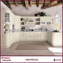 Family style solid kitchen / PVC laminate kitchen / Wooden furniture