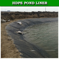 Black plastic hdpe waterproof membrane for fish pond liner use