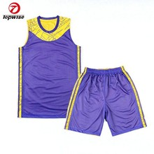 High Quality Reversible Customized Sublimation Basketball Jersey