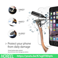 Free sample screen protector labeling machine HD for iphone6s and iphone6s plus