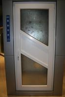 New design 60 mm white plastic single upvc casement door